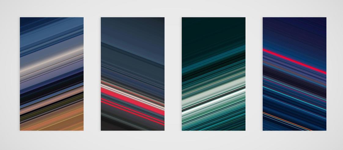 Ensemble coloré de motif de lignes inclinées vecteur