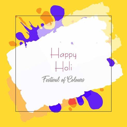 Imprimer festival Happy Holi de couleur fond vecteur