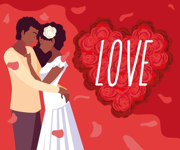 Affiche d'amour vecteur