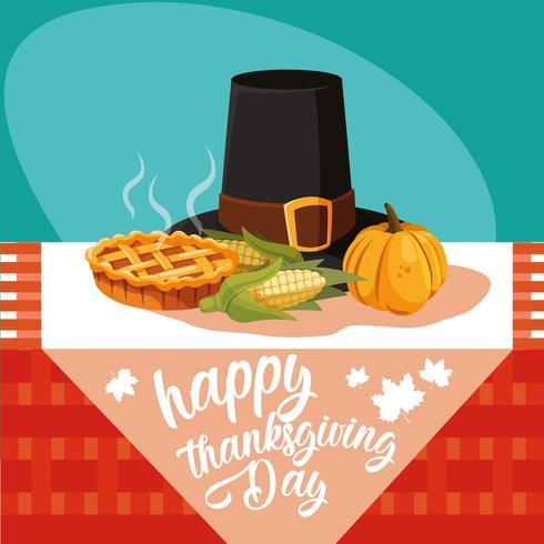 chapeau de pèlerin du jour de thanksgiving vecteur