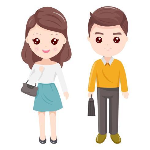 Couple père et mère vecteur