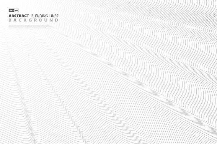 Ligne de mélange abstrait noir sur fond blanc vecteur