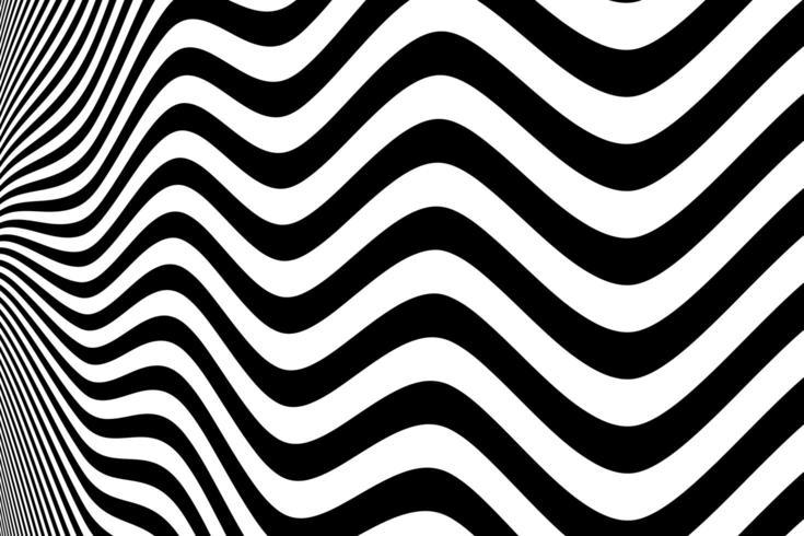 Fond abstrait ondulé noir et blanc vecteur