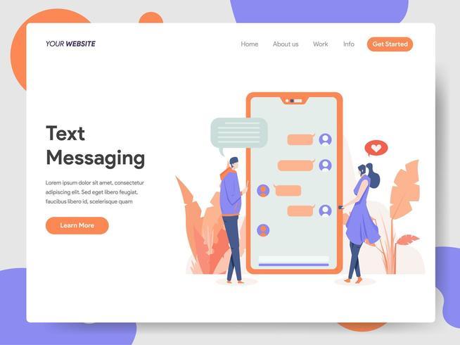 Concept d'illustration de messagerie texte vecteur