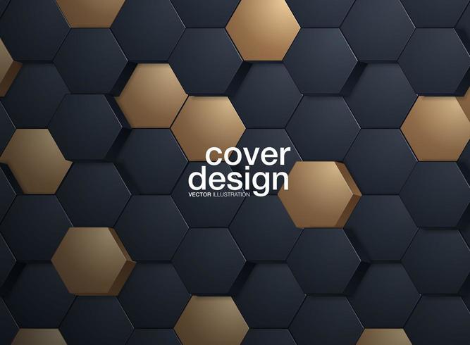 Abstrait hexagonal vecteur