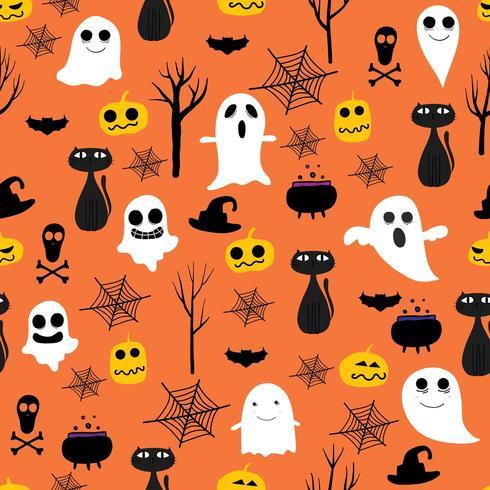 Halloween sans soudure de fond vecteur