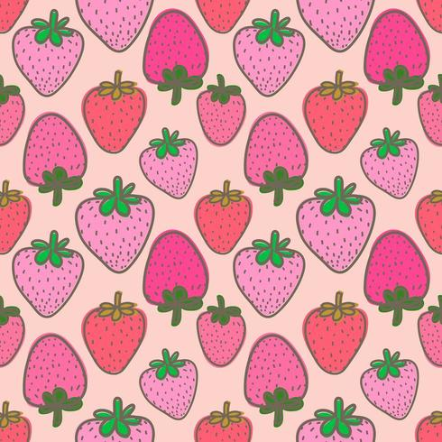 Fond transparent aux fraises rose vecteur