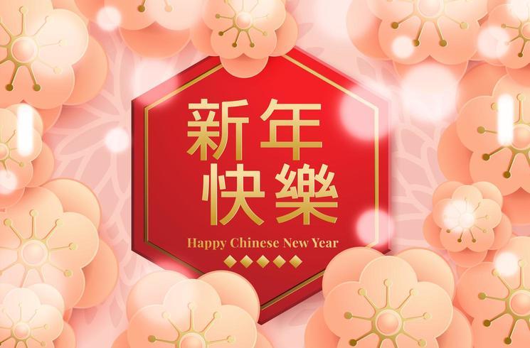 Effet lumineux du Nouvel An chinois vecteur