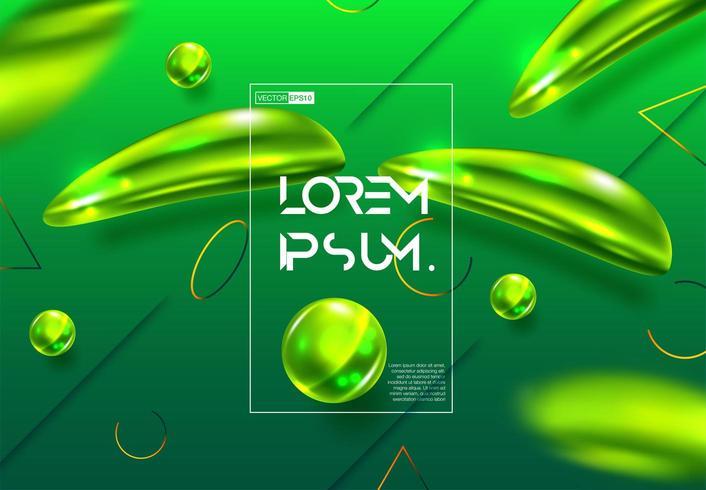 Flou vert dégradé coloré abstrait vecteur