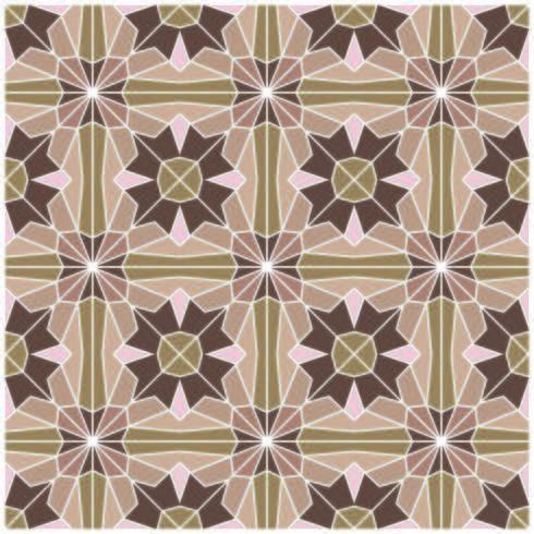 Retro Seamless Pattern géométrique brun vecteur