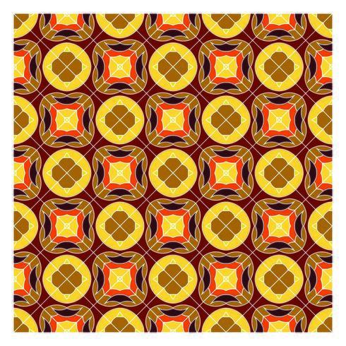 Modèle sans couture géométrique rétro vecteur
