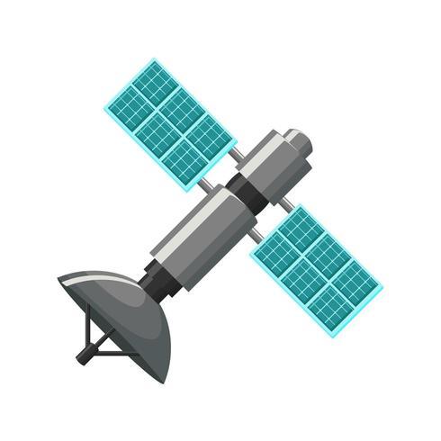 Icône satellite isolé vecteur