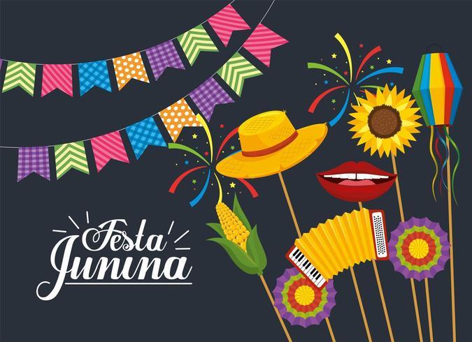 fête bannière décoration pour festa junina vecteur