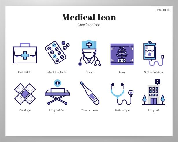 Pack d'icônes médicales vecteur