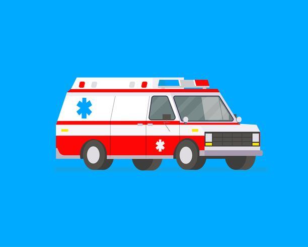 Voiture ambulance vecteur