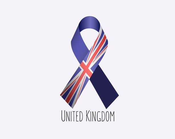 En deuil Royaume-Uni vecteur