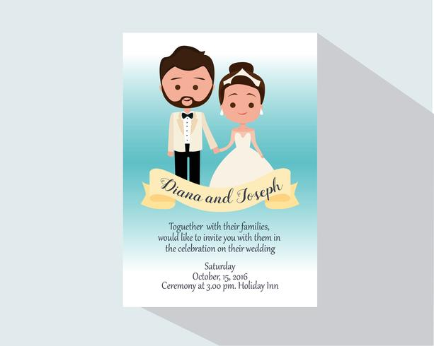 Invitation de mariage avatar vecteur