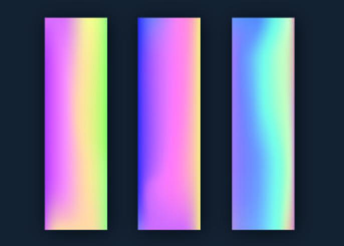 Collection de dégradés d'hologramme vecteur
