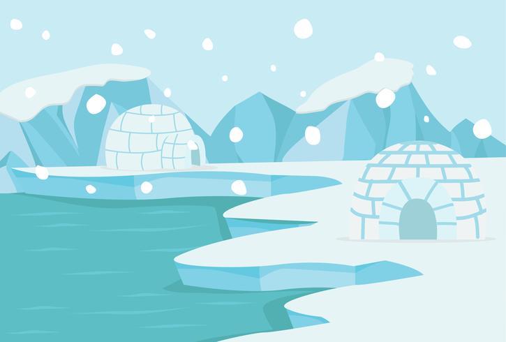 Paysage arctique du pôle Nord vecteur