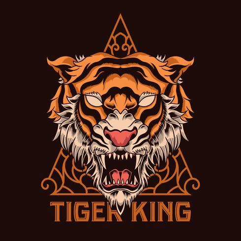 illustration tête de tigre vecteur