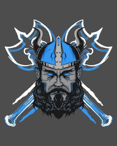 illustration puissante de viking vecteur