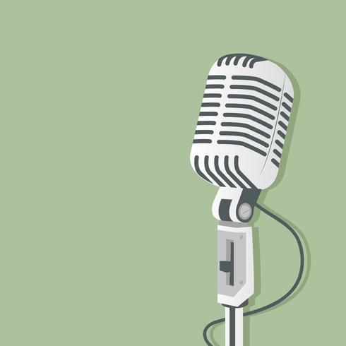 Microphone rétro vecteur