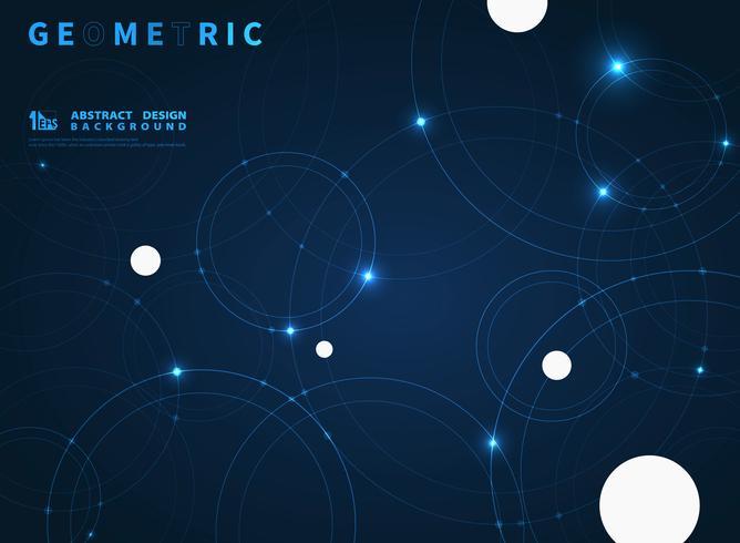 Fond de technologie de conception de cercle bleu tech vecteur