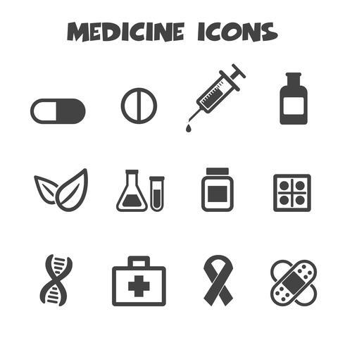 symbole d'icônes de médecine vecteur