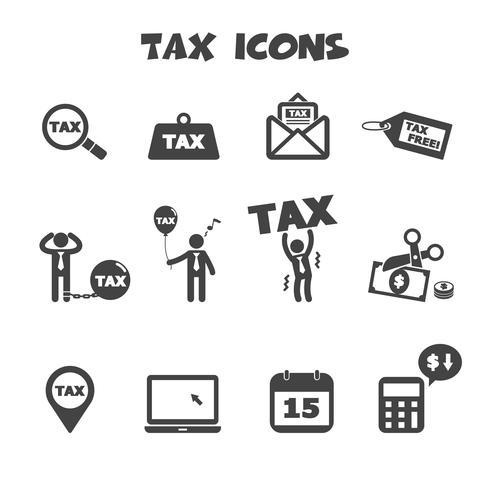 symbole d'icônes de taxe vecteur