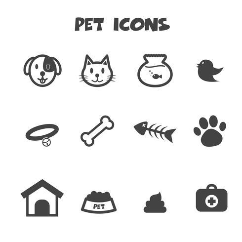 symbole d'icônes pour animaux de compagnie vecteur