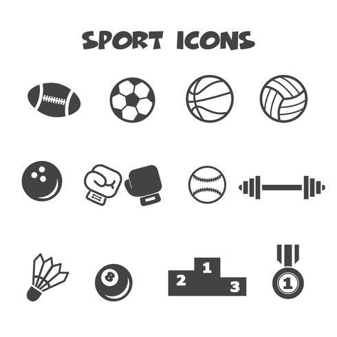 symbole d'icônes de sport vecteur