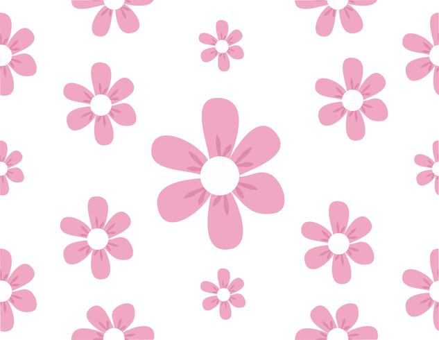 motif de fleurs mignonnes vecteur
