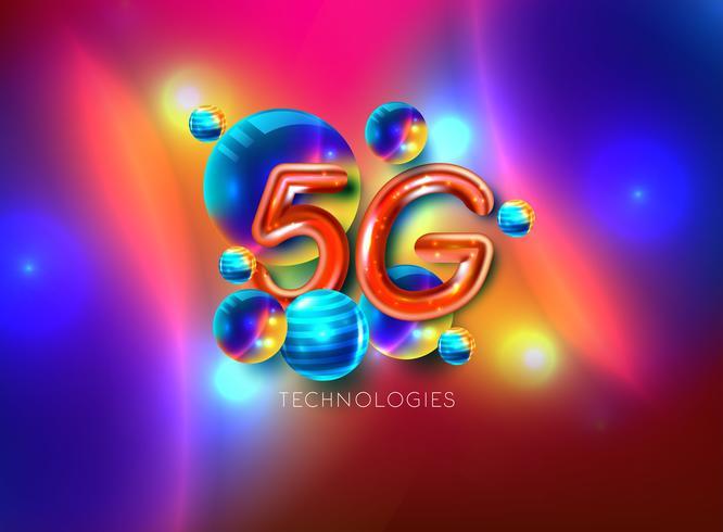Connexion Internet sans fil 5G vecteur