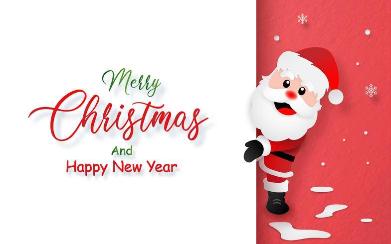 Carte postale du père Noël avec espace de copie vecteur