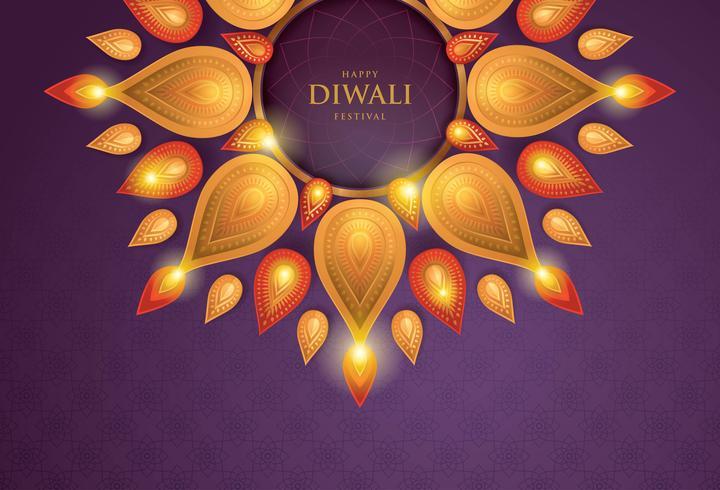 Papier Diwali Violet 02 vecteur