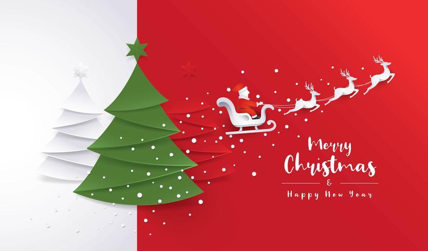 Carte de voeux joyeux Noël vecteur