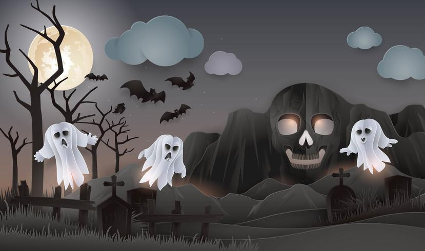Fond de soirée Halloween Night vecteur