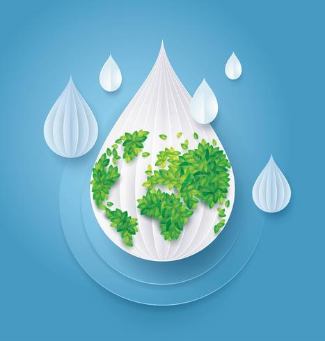 Sauvez l'eau et le monde vecteur