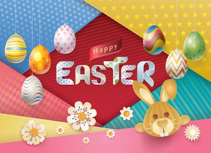 Carte de voeux de Joyeuses Pâques vecteur