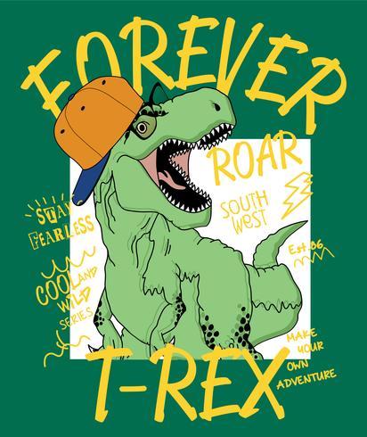 Illustration de dinosaure T-Rex vecteur