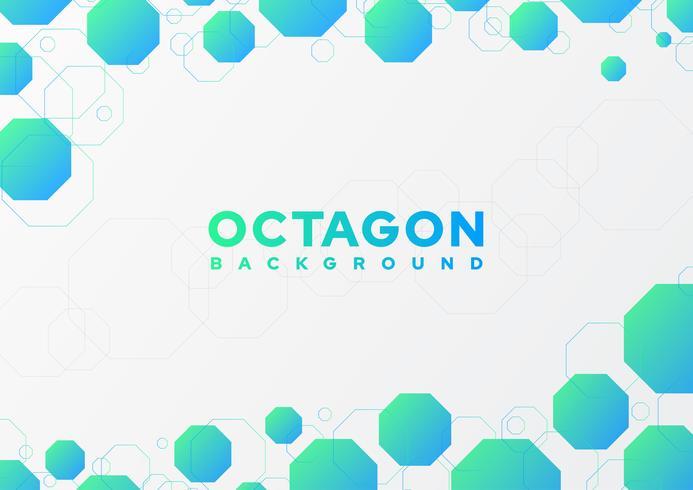 Abstrait octogone vecteur