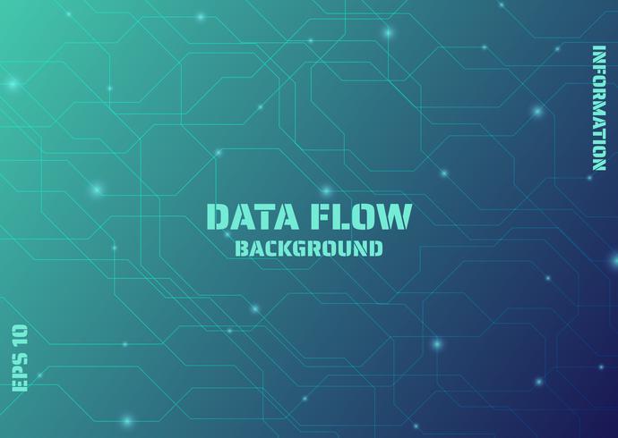 Lignes de flux de données vecteur