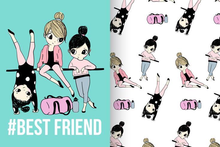 Ensemble modèle Best Friend vecteur