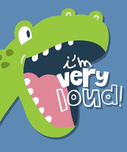 Je suis très fort dinosaure vecteur