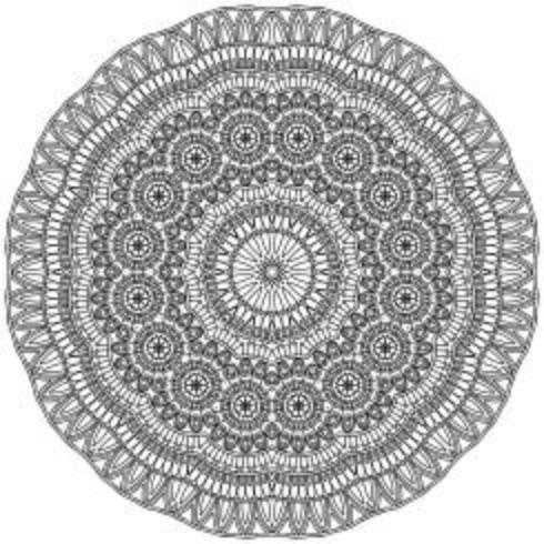 Mandala ornement islamique en style ethnique vecteur