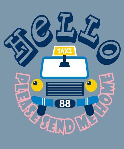 Bonjour taxi vecteur