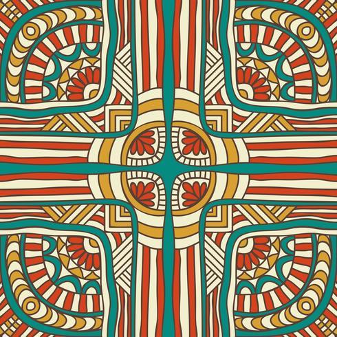 Modèle sans couture en style ethnique. Éléments de décoration vintage. vecteur