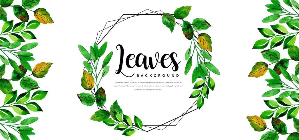 Fond de feuilles de guirlande vecteur