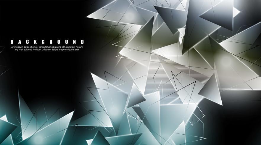 Papier peint triangles lumineux vecteur
