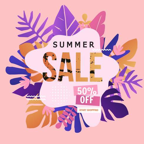 Bannière du site Web Summer Sale vecteur